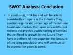 swot analysis conclusion