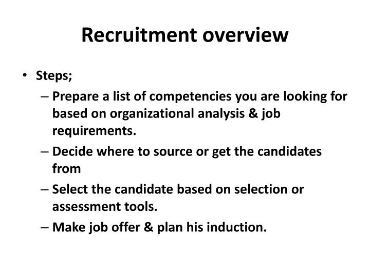 recruiting selection and training essay Ineffective recruitment and selection can result in, wrong sales person being hired, thousands of dollars a year spent in training, lost productivity and lost sales personality traits to look for in salespersons, intelligence, decisiveness, energy and enthusiasm, results orientation, maturity.