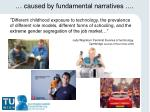 caused by fundamental narratives