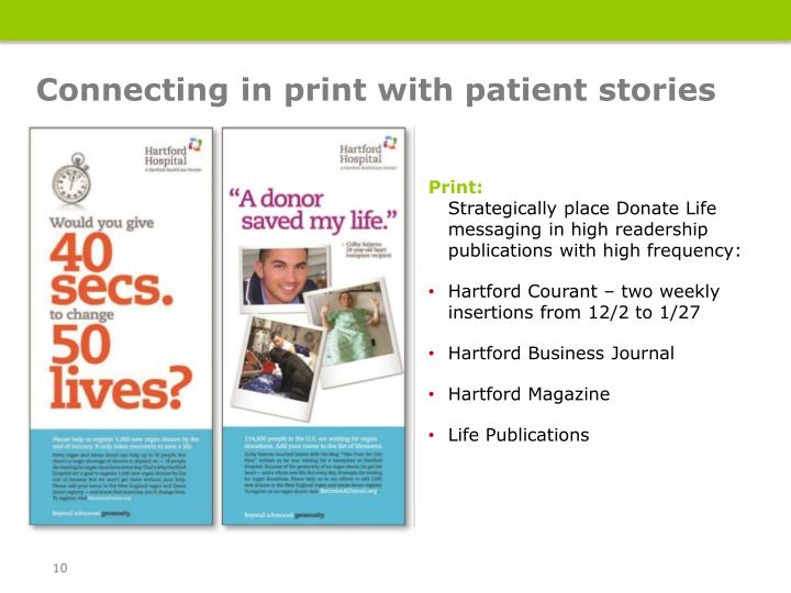 Connecting in print with patient stories