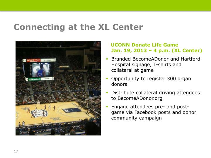 Connecting at the XL Center