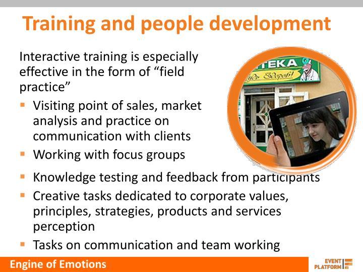 Training and people development