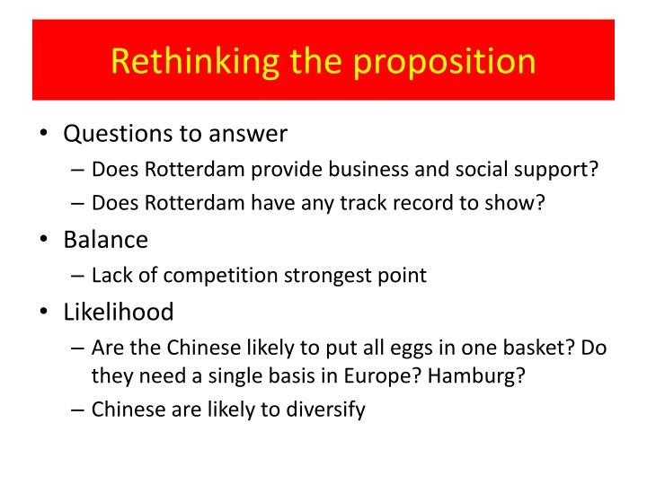 Rethinking the proposition