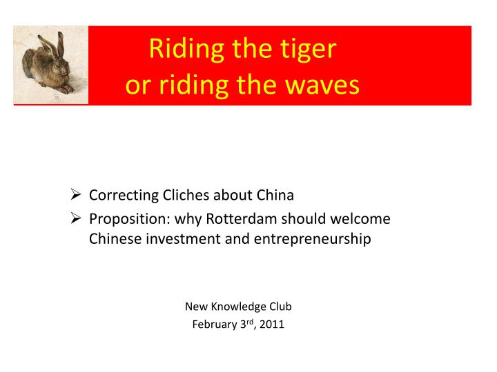 Riding the tiger or riding the waves1