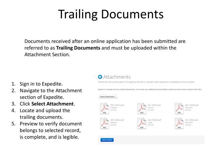 Trailing Documents