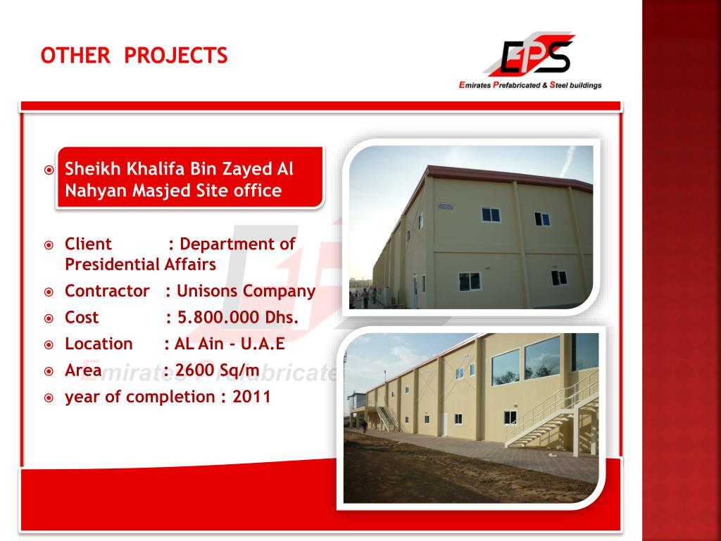 PPT - Emirates prefabricated & steel building (L L C