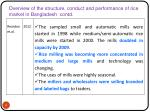 overview of the structure conduct and performance of rice market in bangladesh contd1