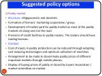 suggested policy options
