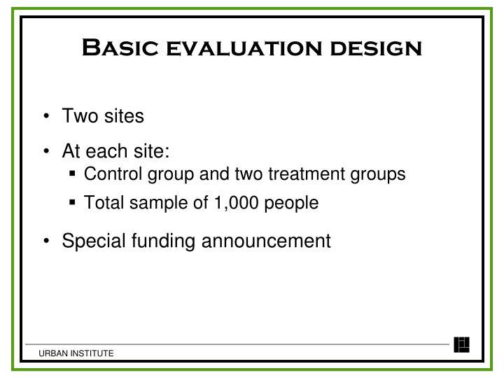 Basic evaluation design