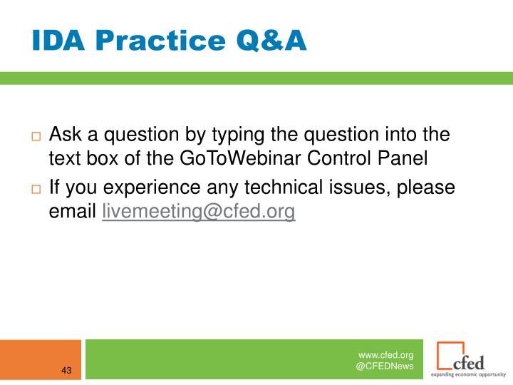 IDA Practice Q&A