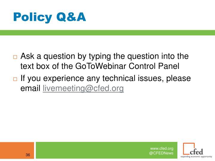 Policy Q&A