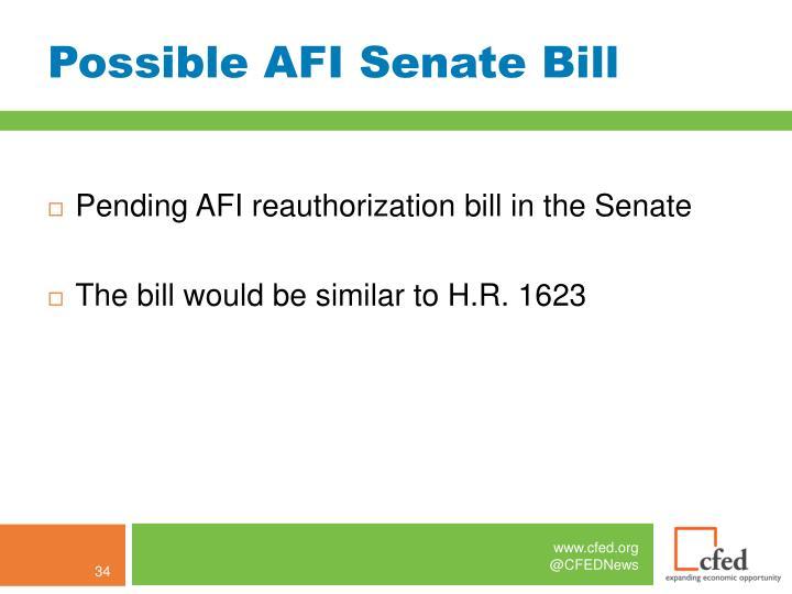 Possible AFI Senate Bill