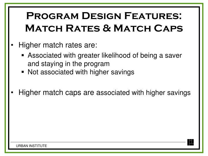 Program Design Features: