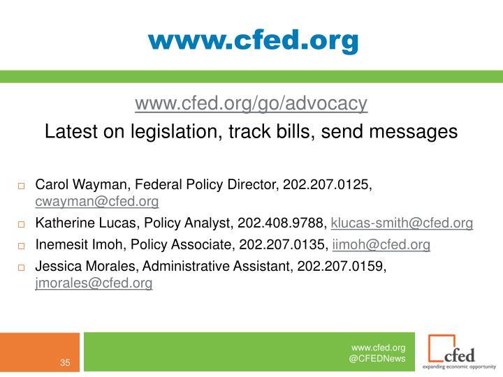 www.cfed.org