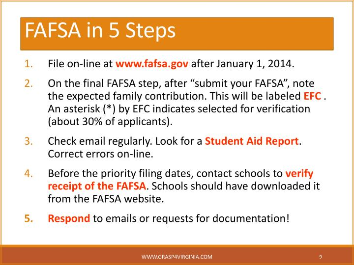 FAFSA in 5 Steps