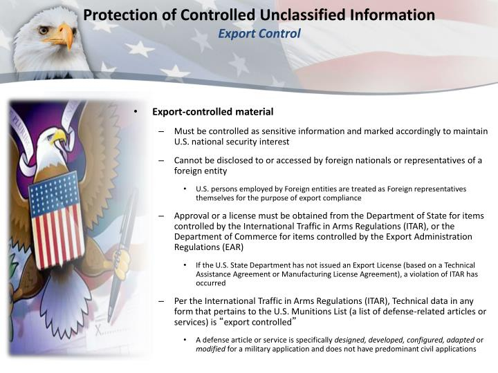 Ppt Protection Of Controlled Unclassified Information Overview