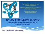 10 th iru symposium of jurists international conference centre cicg 21 february 2014 in geneva