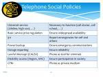 telephone social policies