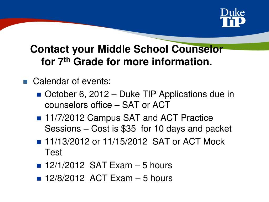 PPT - The Duke University Talent Identification Program
