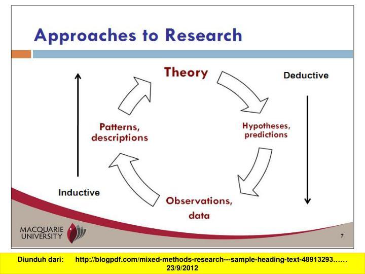Diunduh dari:      http://blogpdf.com/mixed-methods-research---sample-heading-text-48913293…… 23...