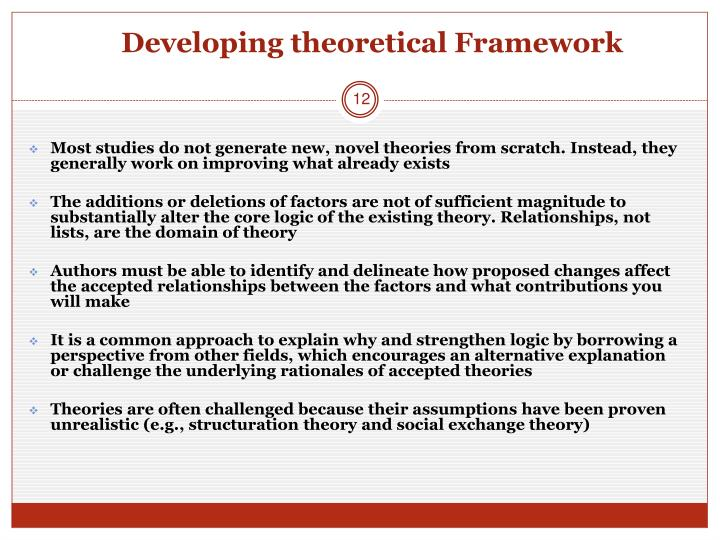 Developing theoretical Framework