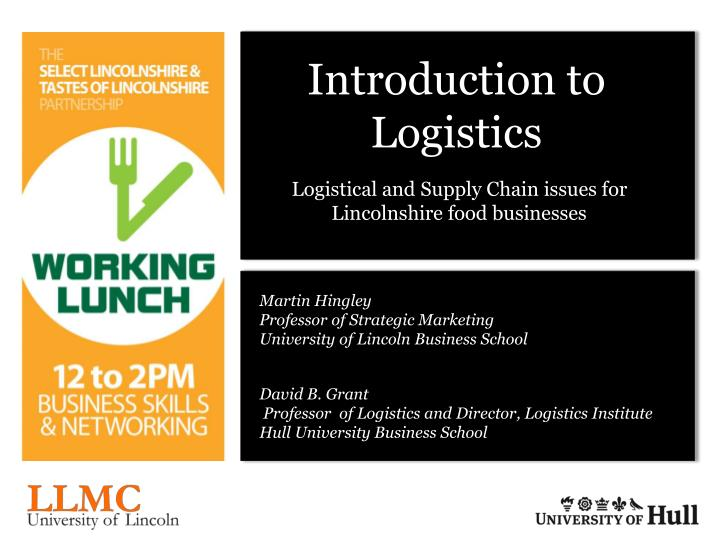 introduction to logistics and its interface with production and marketing Production logistics can be applied in existing as well as new plants manufacturing in an existing plant is a constantly changing process machines are exchanged and new ones added, which gives the opportunity to improve the production logistics system accordingly.