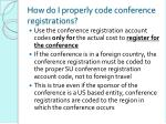 how do i properly code conference registrations