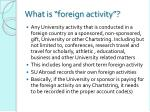 what is foreign activity