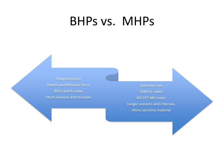 BHPs vs.  MHPs