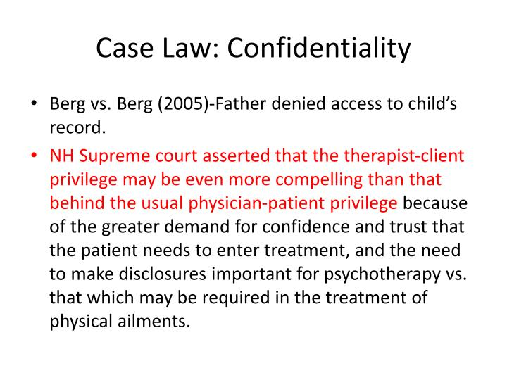 Case Law: