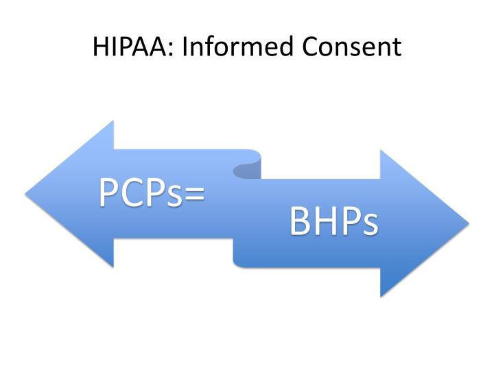 HIPAA: Informed Consent