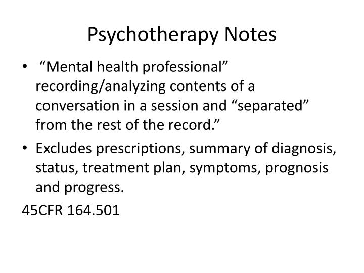 Psychotherapy Notes