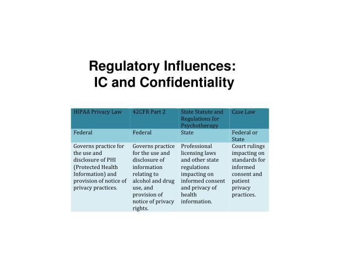Regulatory Influences: