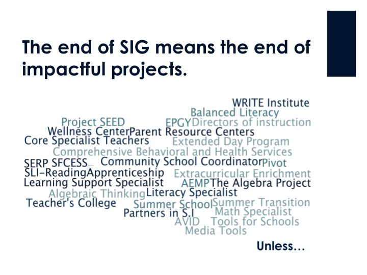 The end of sig means the end of impactful projects