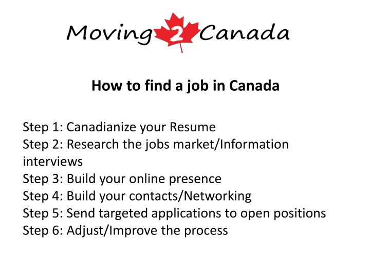 How to find a job in