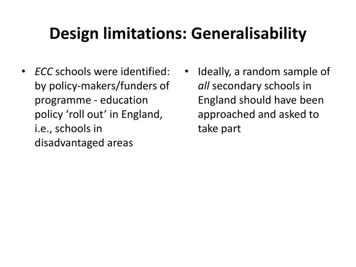 Design limitations: