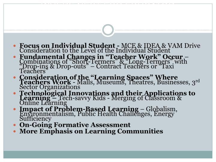 WHERE NEXT FOR EDUCATOR PREPARATION?