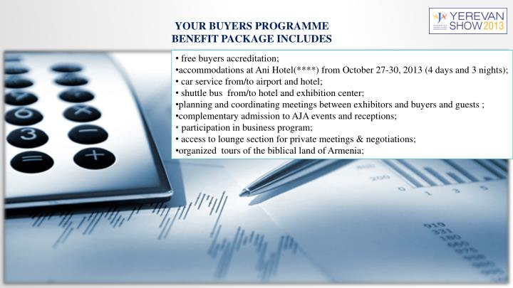 YOUR BUYERS PROGRAMME