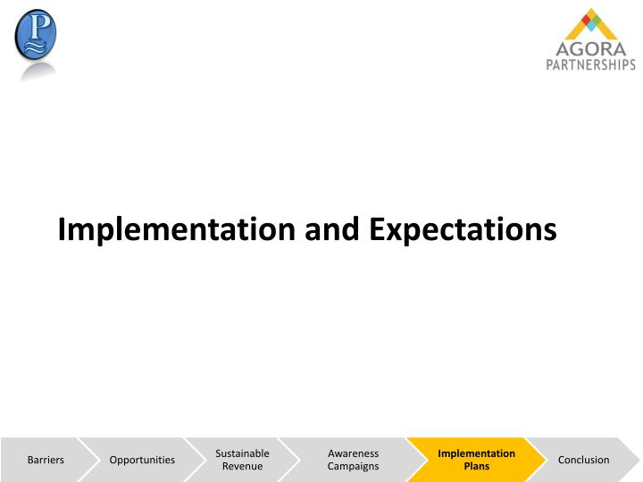 Implementation and Expectations