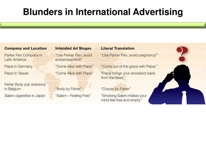 Blunders in International Advertising