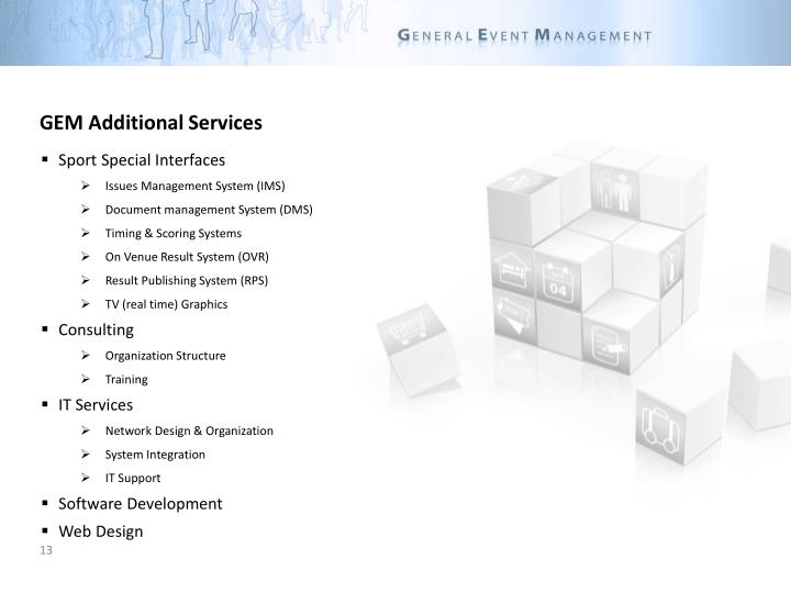 GEM Additional Services