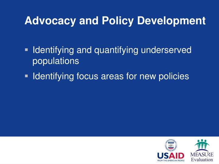 Advocacy and Policy Development