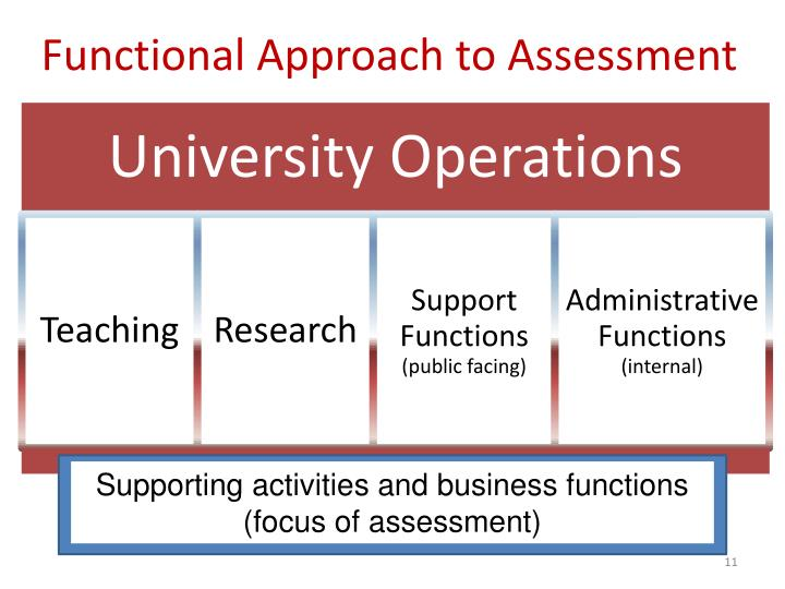 Functional Approach to Assessment