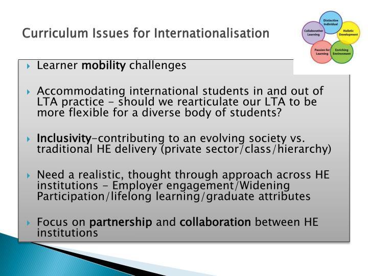 Curriculum Issues for Internationalisation