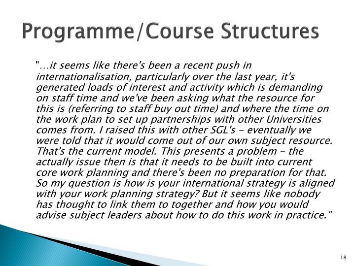 Programme/Course Structures