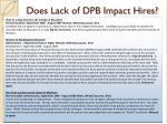 does lack of dpb impact hires1