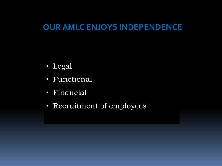 OUR AMLC