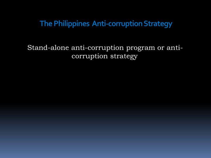The philippines anti corruption s trategy