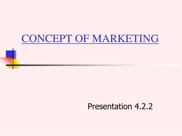 concept of marketing n.