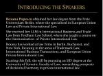introducing the speakers2